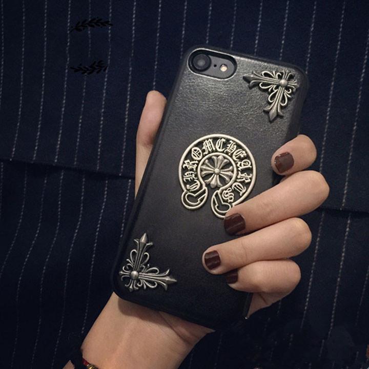 クロムハーツ アイフォン7カバー 皮革 芸能人愛用メンズ