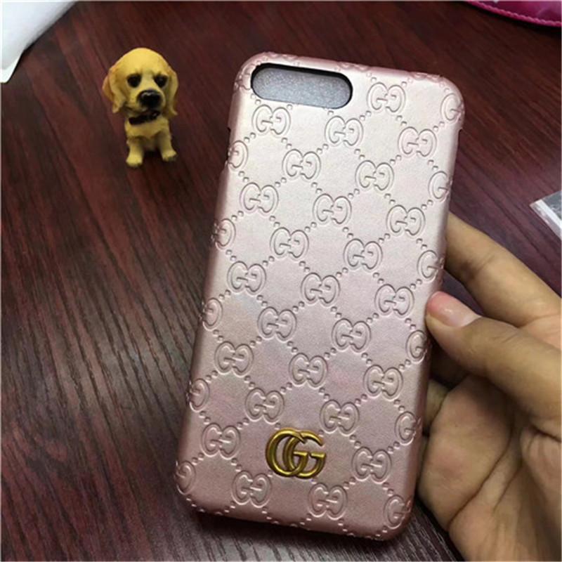 グッチ ピンク iPhoneXs/Xs max/Xr ケース シグネチャー柄