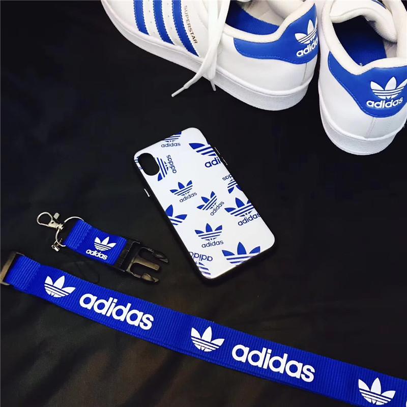 アディダス Adidas iPhoneXケース ネックストラップ