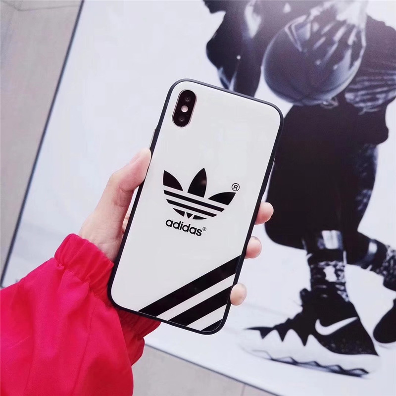 adidas 保護ガラスフィルム付き ナイキ NIKE iPhone 携帯電話ケース