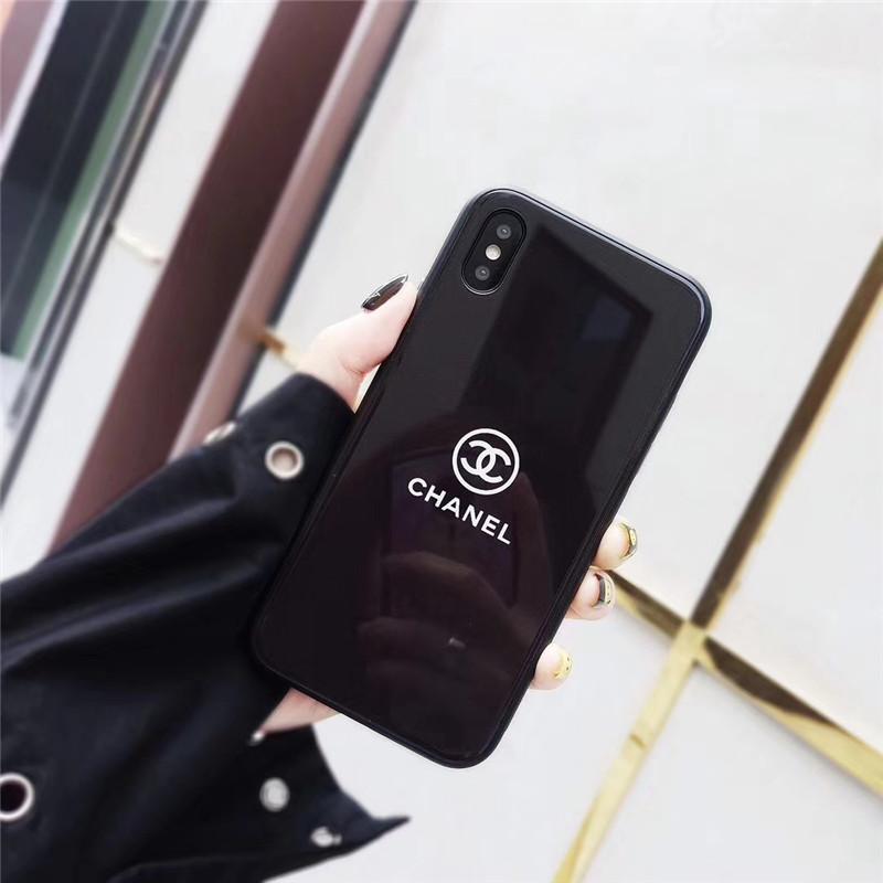 シャネル iphone xs/xsmax/xr ケース シンプル