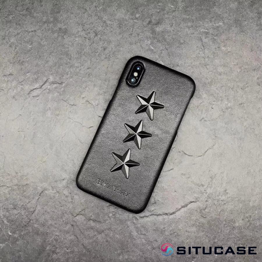 ジバンシィiPhoneXケース 星スタッズ