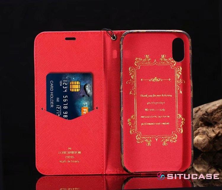 メンズにおすすめ iPhone8 plus ケース スタンド機能 ルイヴィトン 赤い