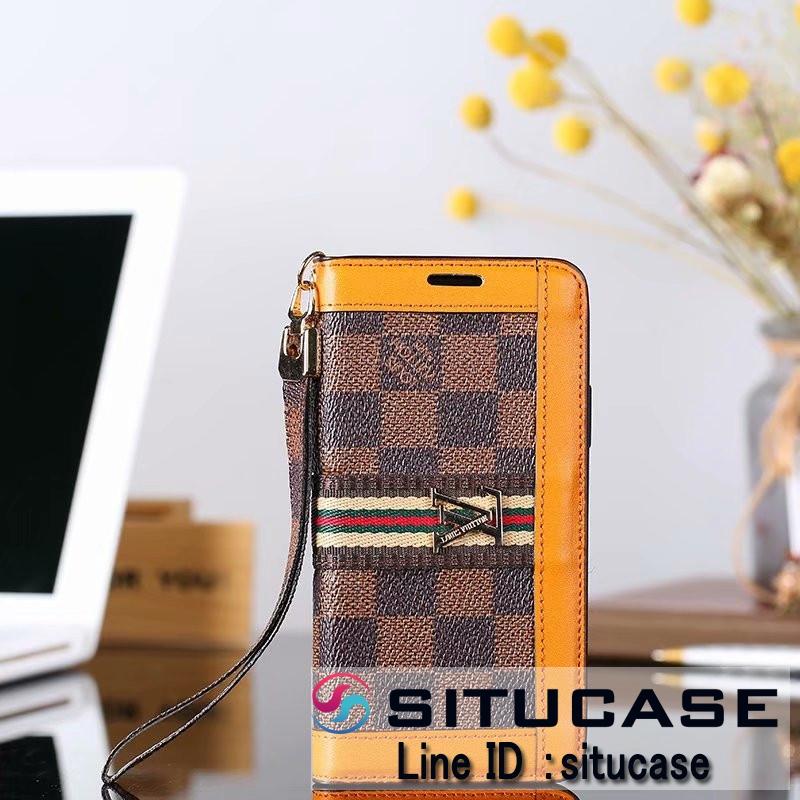 手帳型 ダミエ柄 LV iPhoneXs Max