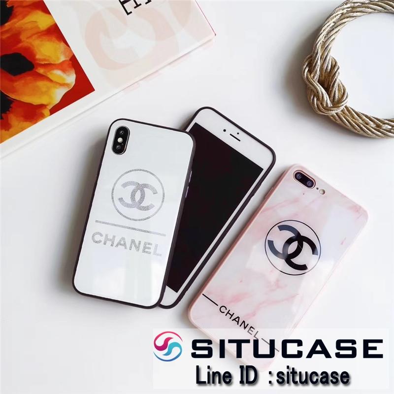 ブランド風iphoneケース シャネル風 iPhonexrケースピンク