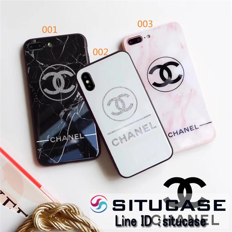 ブランド風iphoneケース シャネル風 iPhonexケースピンクシンプル