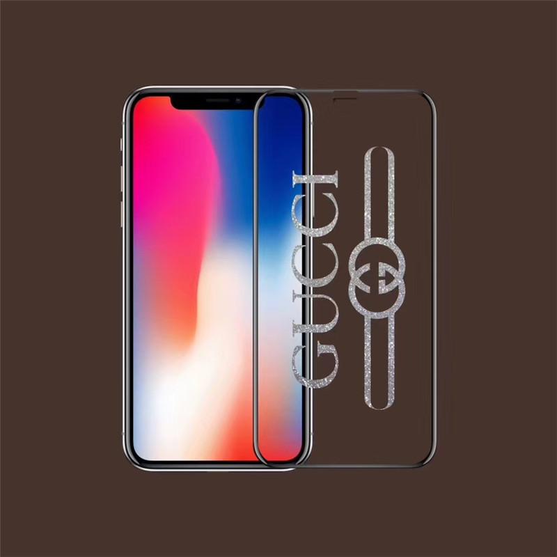iPhone強化ガラスフィルム 最強 ブランド ラメ入り保護フィルム