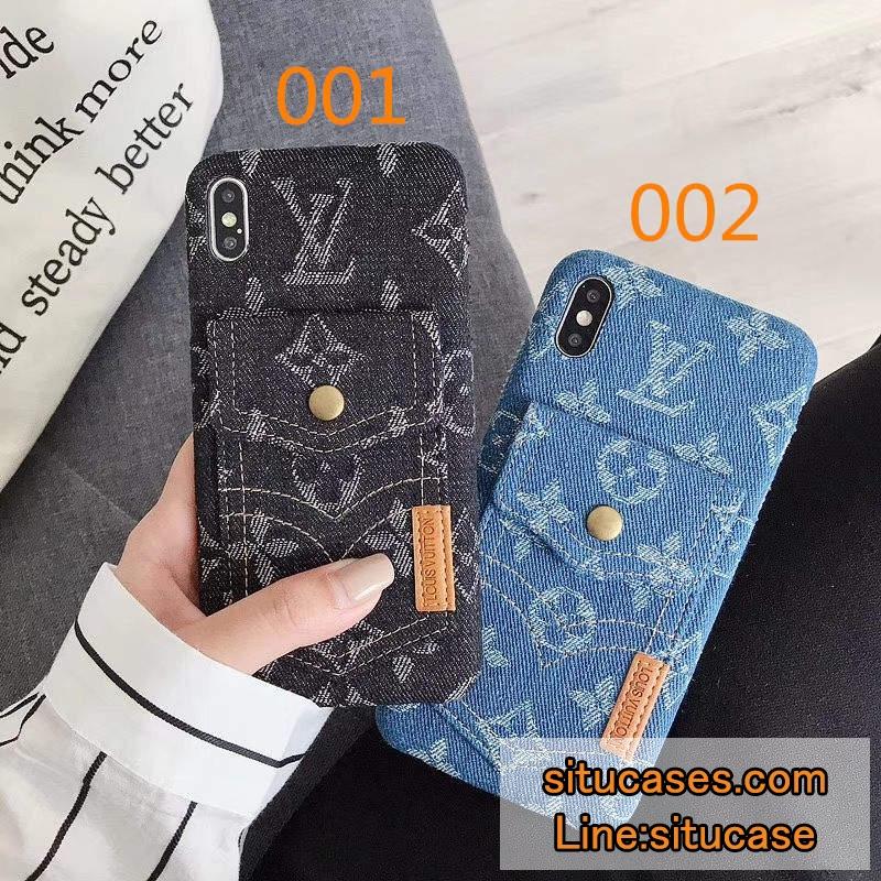 ルイヴィトン デニム iPhonexケース 背面収納